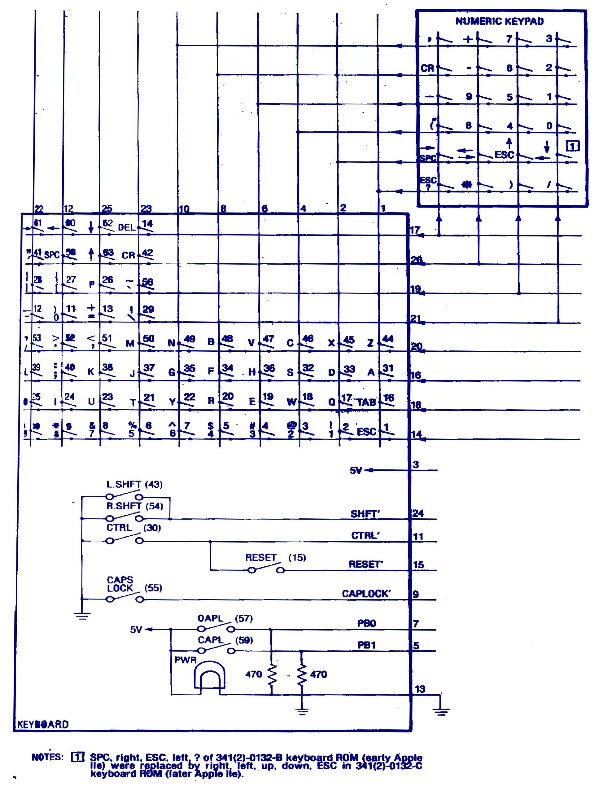 Apple IIe Schematic Keyboard index of apple ii items hardware iie schematic keyboard wiring diagram at bayanpartner.co
